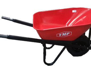 Yellow & Red Heavy Duty Wheel Barrows now available at TMP Australia