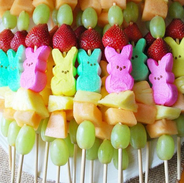 Easter Peep Fruit Kabob