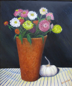 """#15_Merit_BarbaraCollins_""""CountryKitchenTable""""_Oil_#24"""