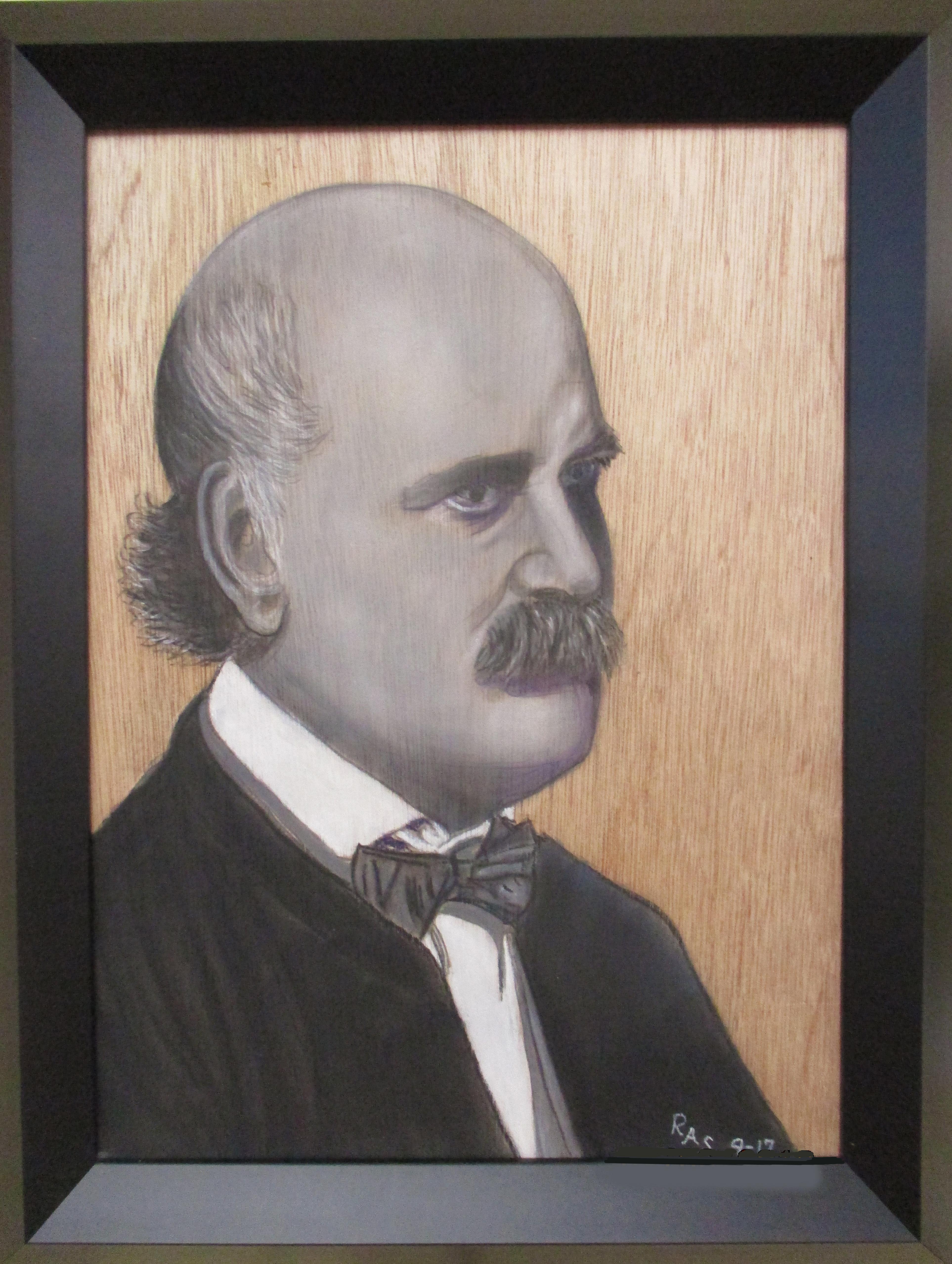"""#18_Merit_RogerA.Simon_""""Semmelweis""""_MixedMedia_#45"""