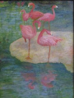 """#16_Merit_BettyKorostynski_""""FlamingoColony""""_Oil_#31"""