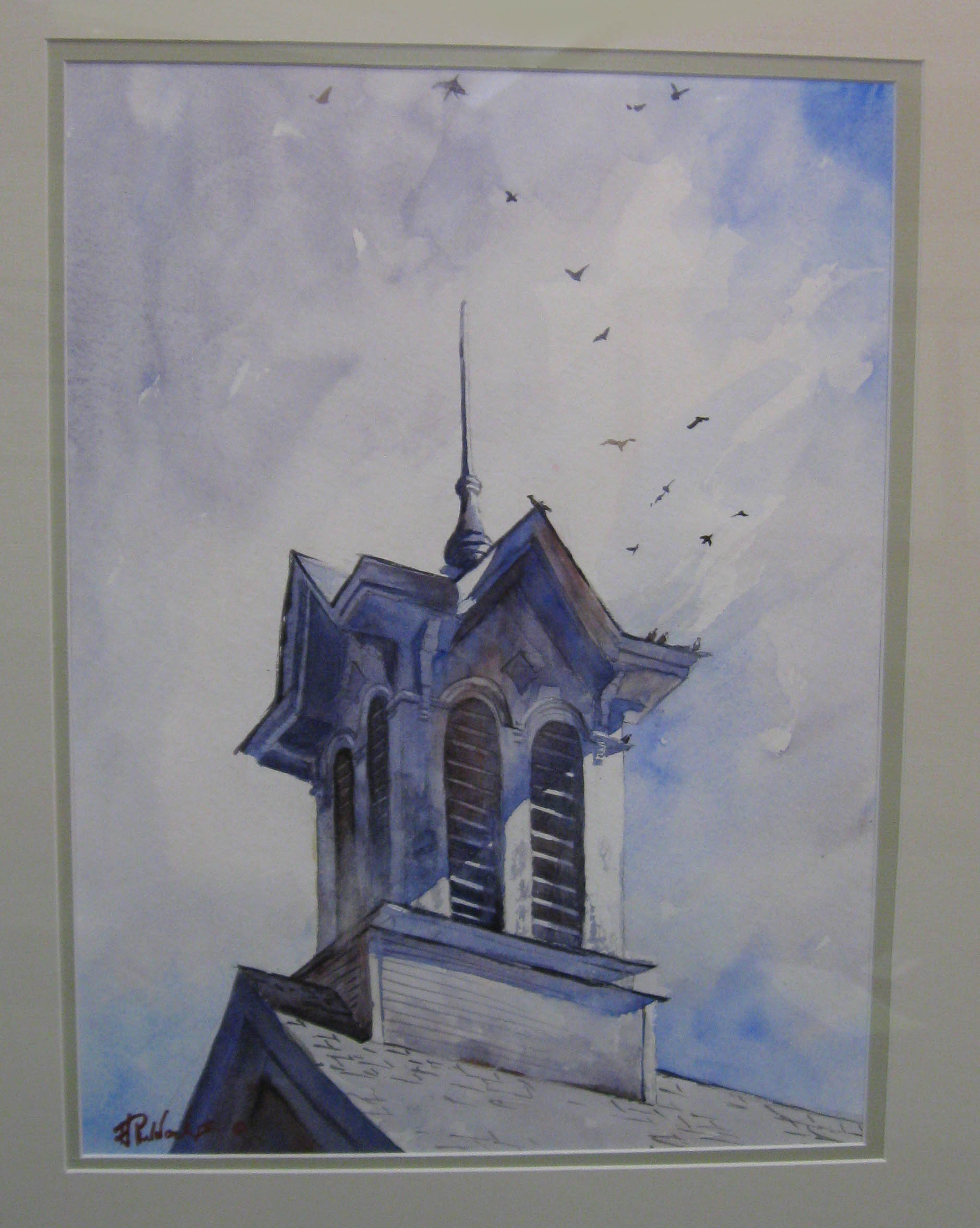 _12 Watercolor 2nd HarryRuddock _OldHadleyCupola_