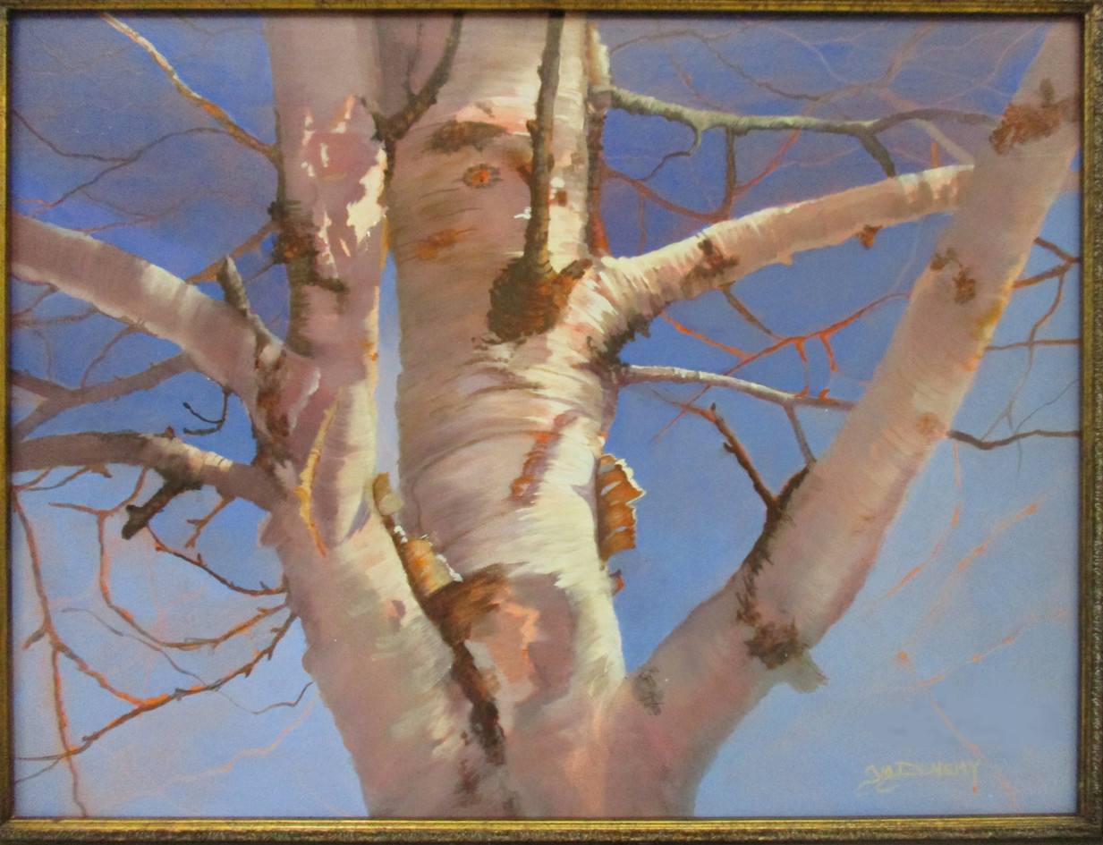 "#44 Jo-Ann Denehy_ ""White Birch"" Oil Wha"