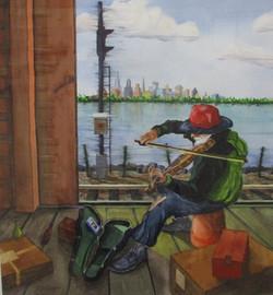 "#17 Merit JoeBurger ""Hobo'sMelody"" Watercolor #40"