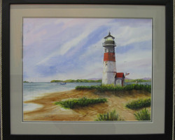 _21 Merit Joseph M. Burger _Light at the Inlet_ Watercolor