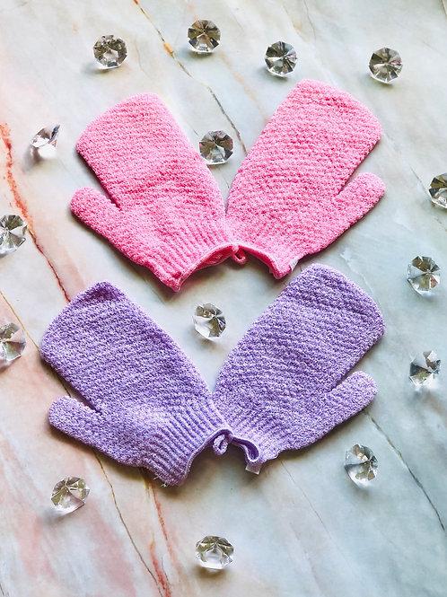 Premium exfoliate gloves