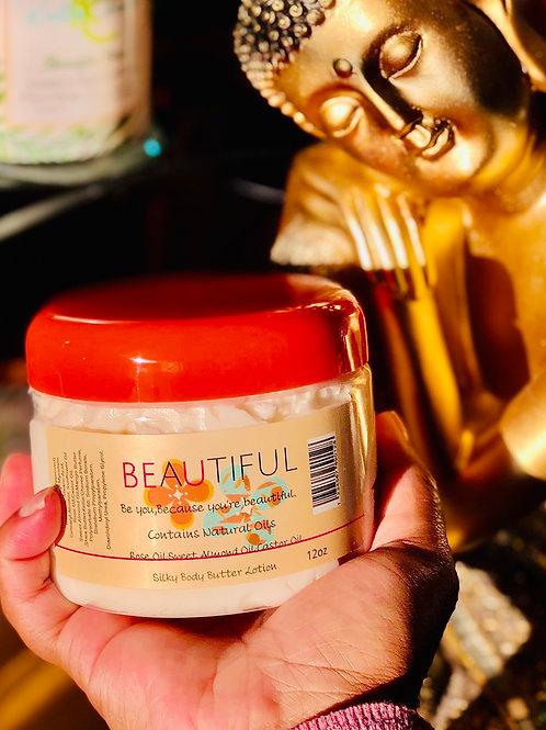 Beautiful Silky Body Butter Lotion 12oz Jar