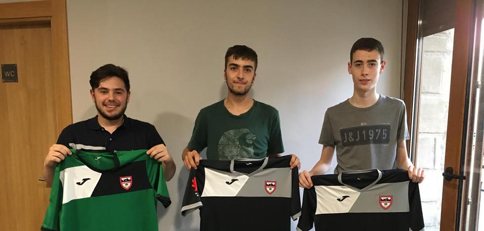 Presentación Sergio Eraso, Carlos Bariain e Iker Guerrero.