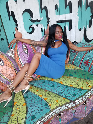 Stretch Cutout Midi Dress