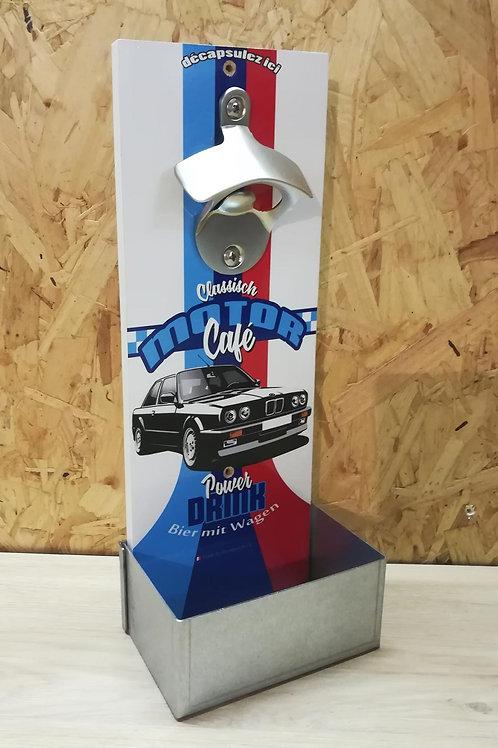 """Décapsuleur mural BMW Noire E30 """"motor cafe"""""""