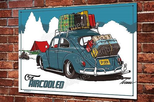 Plaque métal déco VW cox aircooled déco garage vintage de Ivan Brossard