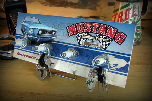 """Accroche clés mural Ford mustang """" the original pony car """""""
