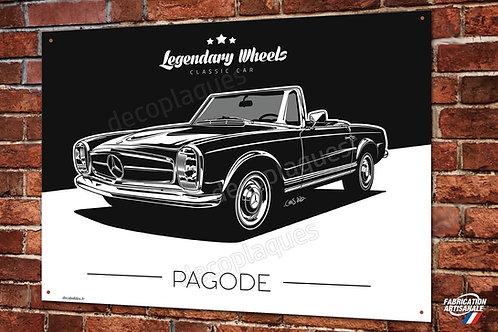 Plaque métal Mercedes-Benz 230 250 280 SL Pagode artwork Chris.Clérici