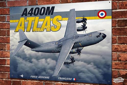Plaque métal déco Artwork Airbus A400M Atlas Armée de l'air Française