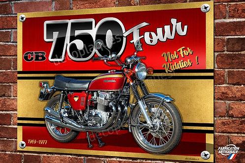 Plaque métal déco Moto Honda cb 750 Four 1969-1977 décoration garage.