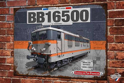 Plaque métal déco Locomotive BB 16500 Train SNCF