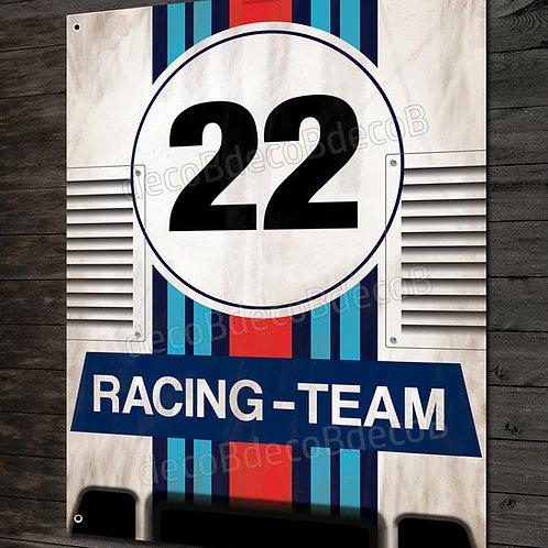 Plaque métal déco garage Artwork Porsche 917 N°22 racing team