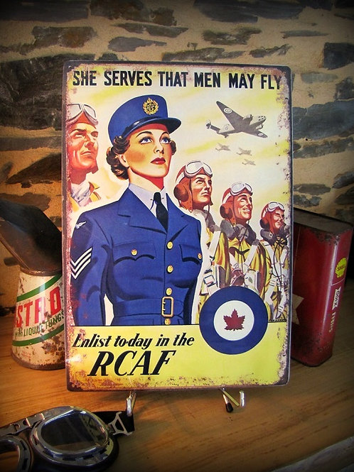 plaque métal déco, repro affiche WW2 royal Canadian air force RCAF