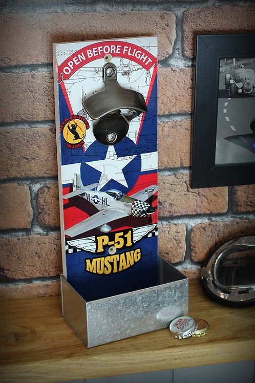 Décapsuleur mural P-51 Mustang chasseur US air force WW2
