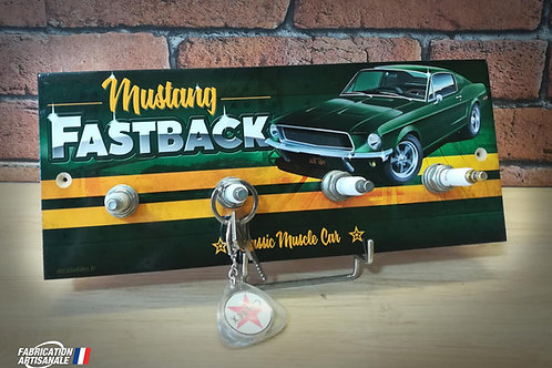 Accroche clés mural Ford Mustang Fastback classic muscle car