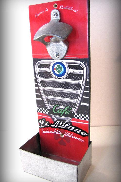 "Décapsuleur mural Alfa Romeo "" Café le Milano """