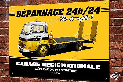 Plaque métal déco Dépanneuse Garage Renault camion SAVIEM artwork Chris Clérici