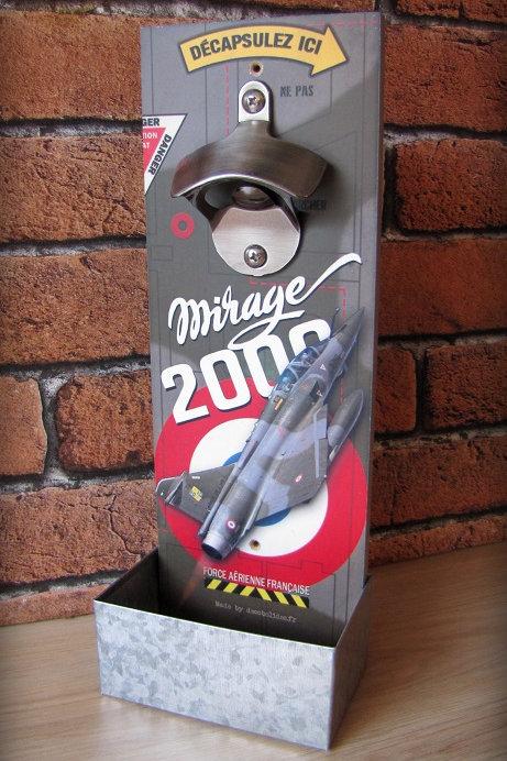 Décapsuleur mural Mirage 2000 armée de l'air Française.