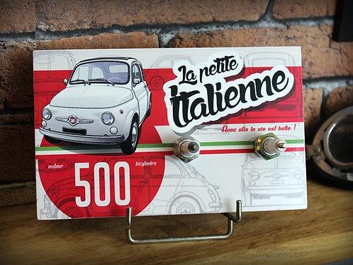 """Accroche clés mural FIAT 500 """" La petite italienne """""""