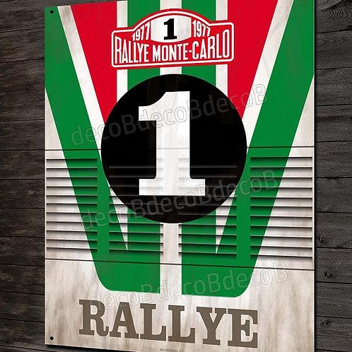 Plaque métal déco Rallye Lancia stratos Alitalia team, Rallye Monte Carlo.