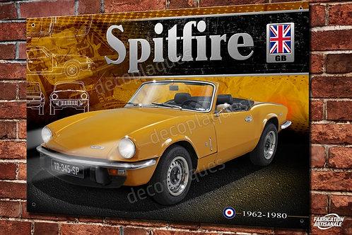 Plaque métal déco Triumph spitfire british roadster déco garage vintage, voiture