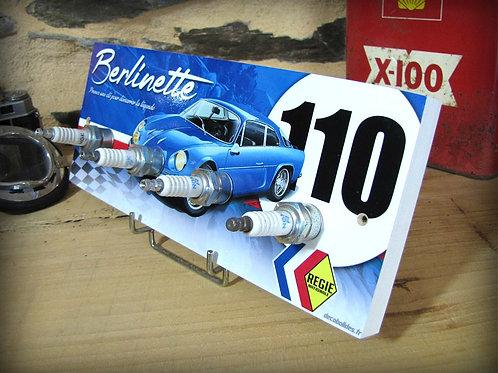 Accroche clés mural Alpine Renault A 110 Berlinette, déco garage rétro