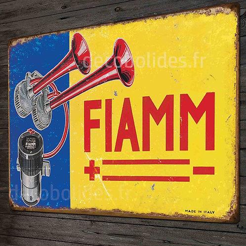 """Plaque métal déco vintage klaxon"""" FIAMM"""" déco garage voiture vintage"""
