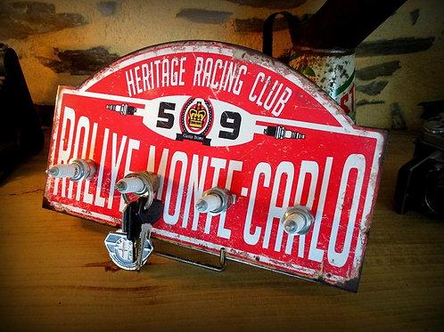 Accroche clés mural style vintage rallye de Monte Carlo
