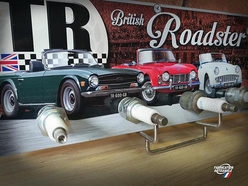 Accroche clés mural ou objet déco Triumph roadster TR3 TR4 TR6.
