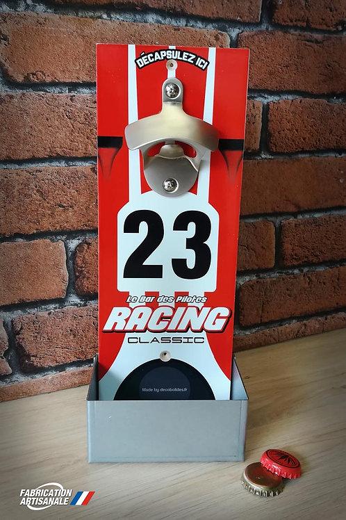 Décapsuleur mural Porsche 917 K n°23 victorieuse course Mancelle 1970. Racing cl