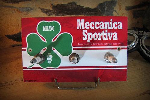 "Accroche clés mural 3 bougies Alfa Romeo "" Mecanica Sportiva"""