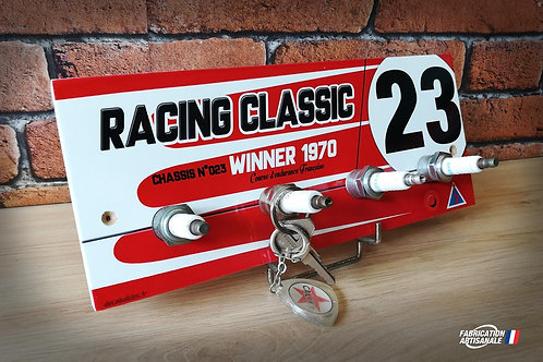 """Accroche clés mural Porsche 917 K N°23 """"racing classic"""" vainqueur course d'endur"""