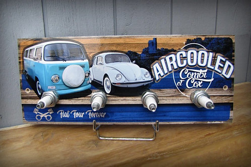 Accroche clés mural aircooled volkswagen combi et cox vintage.