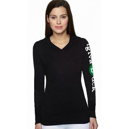 ladies black thermal hoodie