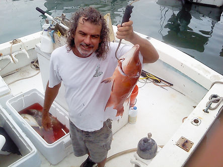 Lee Starling plays Squid, a gritty commercial fisherman on Dive Shop The Show