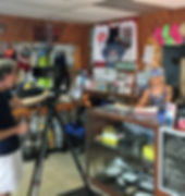 Dive Shop The Show on set in the Shop
