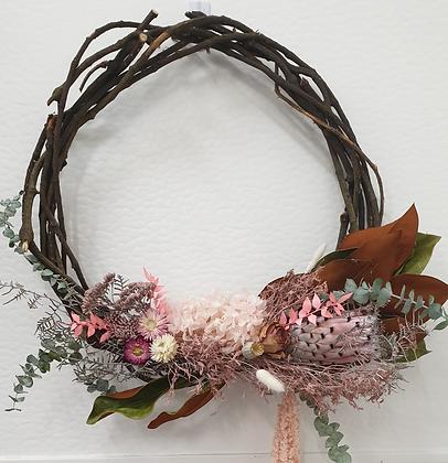 Pink Protea Wreath