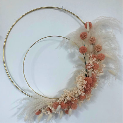 Pink and Gold Wreath