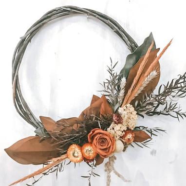 A wreath >