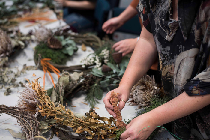 Wreath making workshop >