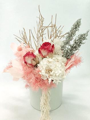 Medium Pink & White