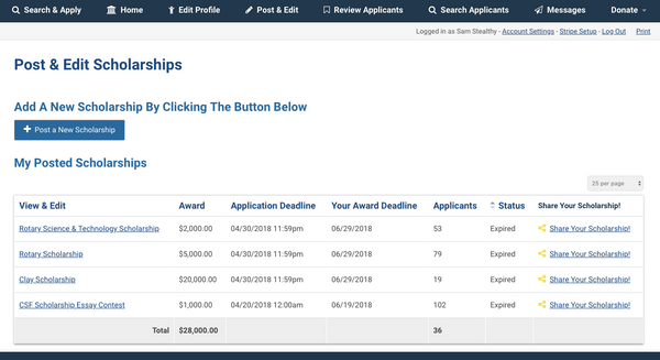 Easily create a scholarship application quickly