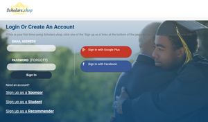 create an account on Scholars.Shop to start funding your education