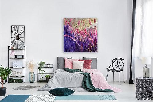 """Ribak"" 100X100 CM  Painting by Pink May Khen"