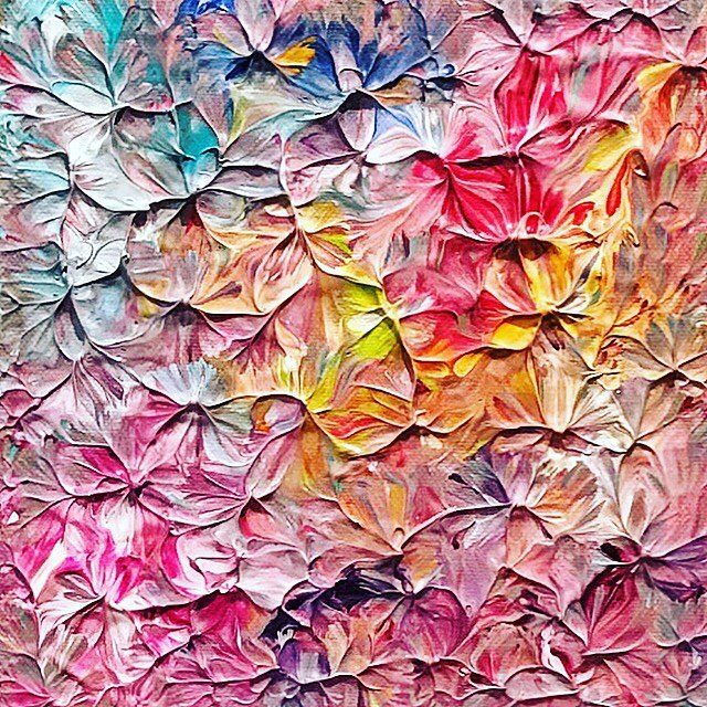Corazon ❤️🧡💛💚💙💜 acrylic on canvas 2